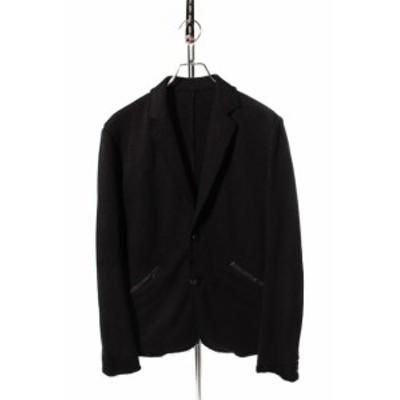 【中古】アカンサス ACANTHUS ジャケット jersey tailored テーラード コットン M 黒 ブラック /☆a0424 メンズ