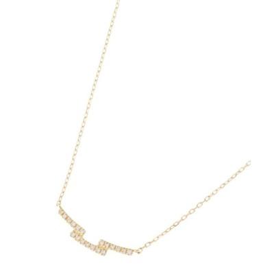 【ココシュニック】 K18ダイヤモンド ステップ ネックレス レディース イエロー ゴールド 43 COCOSHNIK