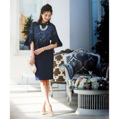 ドレス 結婚式パーティードレスフレアースリーブトップス&スカート2点セットアップスーツ大きいサイズフォーマル