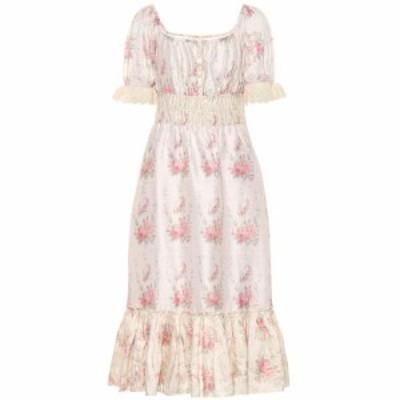 ラブシャックファンシー LoveShackFancy レディース ワンピース ミドル丈 ワンピース・ドレス Terrence floral silk midi dress Dolce