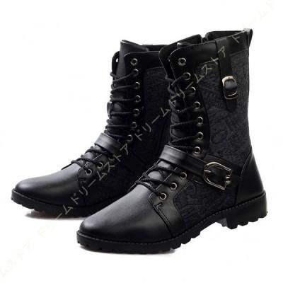 メンズ マーティンブーツ マーチンブーツ ワークブーツ エンジニアブーツ シューズ 防水 防滑 ファション レースアップ マーティンブーツ 革靴 軍靴 メンズ