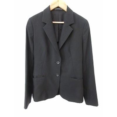 【中古】イネド INED traditionnel ジャケット テーラード シングル 背抜き 9 黒 ブラック /AAO21 レディース