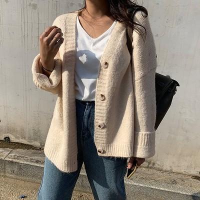 【韓国ファッションNo.1 NANING9】✨カオニニットガーディガン✨大人のトレンドコーデ[送料無料]着やせ効果抜群😊大人可愛いナチュラル服♪着回しコーデ!最新トレンド勢揃い💖