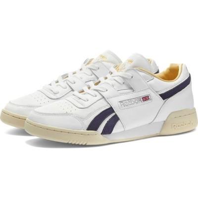 リーボック Reebok メンズ スニーカー シューズ・靴 Workout Plus White/Purple Delirium