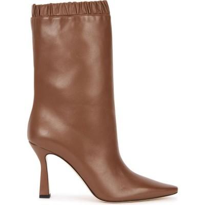 ワンダラー Wandler レディース ブーツ ショートブーツ シューズ・靴 Lina 95 Brown Leather Ankle Boots Brown
