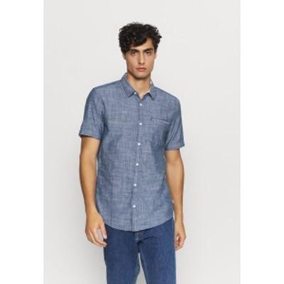 キュー エス デザイン バイ メンズ シャツ トップス Shirt - saphire saphire