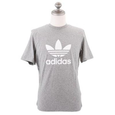 アディダス オリジナルス 半袖Tシャツ 男女兼用 ユニセックス トレフォイル クルーネック Medium Grey ミディアムグレー XS-XL