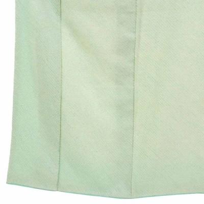 リサイクル着物 小紋 正絹薄グリーン地総絞り袷小紋着物