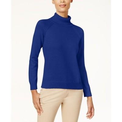 ケレンスコット ニット&セーター アウター レディース Cotton Turtleneck Sweater Bright Blue