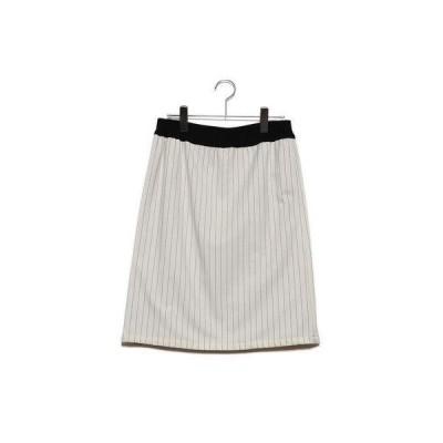 バゼーヌ BAZAINE リバーシブルタイトスカート (ホワイト)