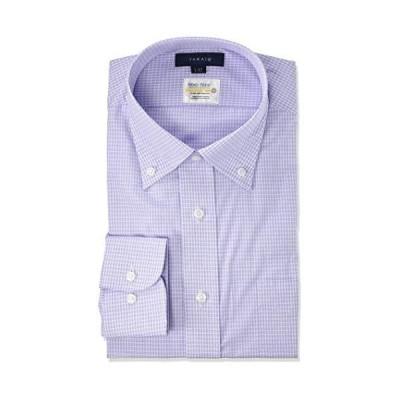 [タカキュー] ドレスシャツ ワイシャツ 形態安定 抗菌防臭 レギュラーフィット ビジネスシャツ 長袖 メンズ ブ?