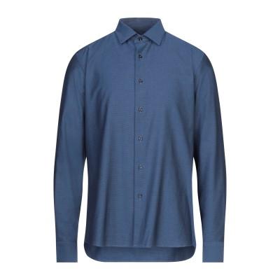 MASSIMO ACCIAI シャツ ブルー 44 コットン 100% シャツ