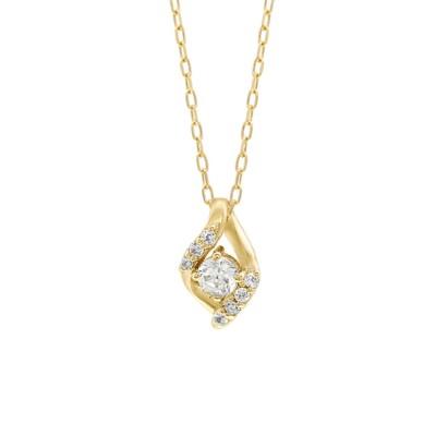 BLOOM ONLINE STORE / 【ESTELLE/エステール】【WEB限定】K10 イエローゴールド ダイヤモンド しずくモチーフ ネックレス WOMEN アクセサリー > ネックレス