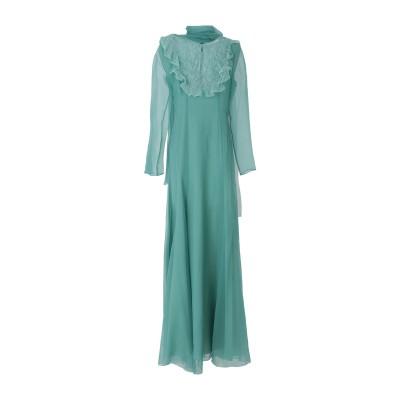 ANNA MOLINARI BLUMARINE ロングワンピース&ドレス グリーン 42 シルク 100% ロングワンピース&ドレス