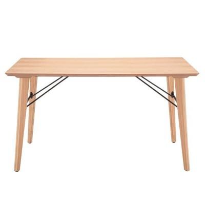 TDT1336 ダイニングテーブル ナチュラル色 幅135 奥行80 高さ73 天然木 アッシュ材 4本脚 あずま工芸 アンテ 送料無料 ヴィヴェンティエ