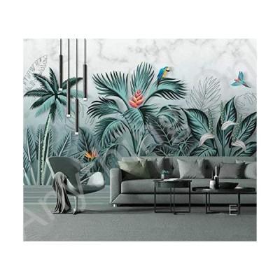 新品 Myyteo Wallpaper Customized Personality Hand Drawn Tropical Rainforest Stereo Plant Hd Background A9-400cmx280cm並行輸入品