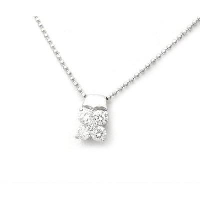 【緑屋質屋】特選ジュエリー ダイヤモンドネックレス 0.50ct Pt900/850【中古】