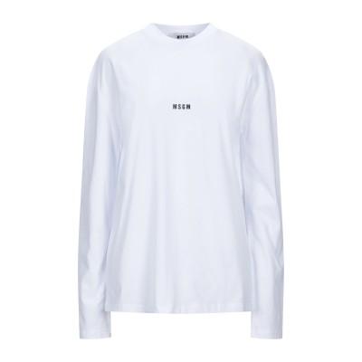 エムエスジーエム MSGM T シャツ ホワイト L コットン 100% T シャツ