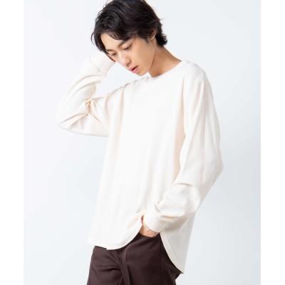 【WEB限定】ラウンドワッフルカットソー