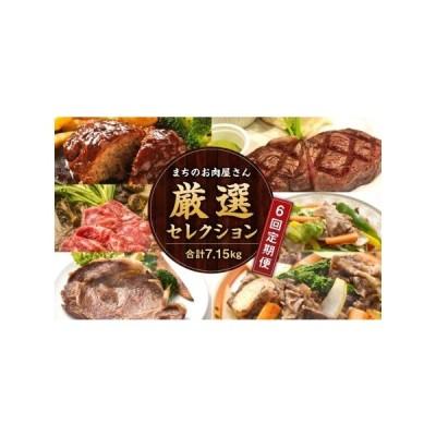 ふるさと納税 【隔月6か月定期便】 まちのお肉屋さん 厳選セレクション 計7.15kg 大分県竹田市