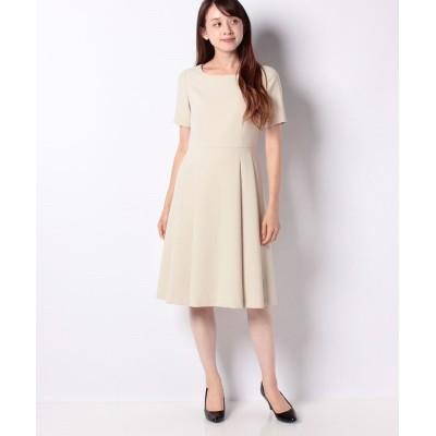 【ミス ジェイ】 シルキーストレッチ ドレス レディース ベージュ 40 MISS J