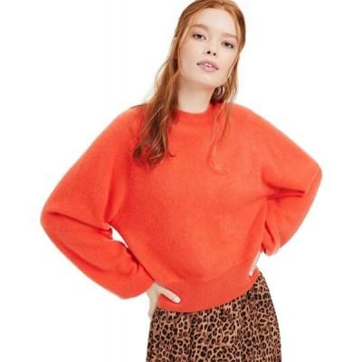 チャータークラブ Charter Club レディース ニット・セーター トップス Cashmere Brushed Blouson-Sleeve Sweater Sweet Clementine