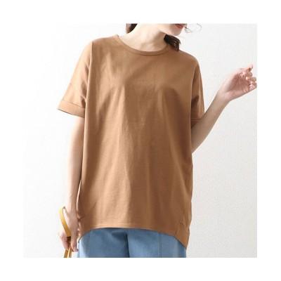 (OWNCODE/オウンコード)コットンバスクドルマンTシャツ/レディース キャメル
