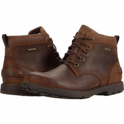 ロックポート Rockport メンズ ブーツ チャッカブーツ シューズ・靴 Waterproof Rugged Bucks II Chukka Boston Tan