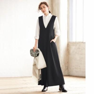 ファッション パンツ サロペット オールインワン 強撚ポンチ Vネックオールインワン A30402