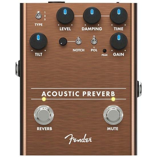 Fender ACOUSTIC PREVERB 電吉他 效果器 公司貨 【宛伶樂器】