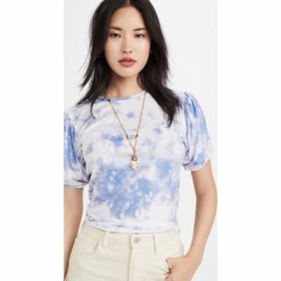 エンドレスローズ endless rose レディース Tシャツ トップス Twist Puff Sleeve T-Shirt Blue