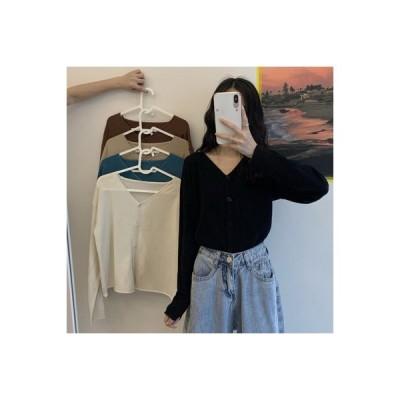 【送料無料】韓国風 秋 襟 長袖セーター 薄いスタイル カーディガンジャケット 優し | 364331_A63686-0299821