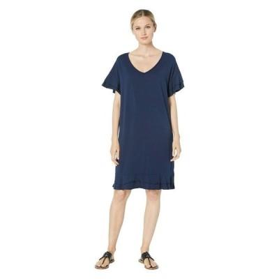 モッドドック レディース ワンピース トップス Cotton Modal Tiered Flounce Sleeve Shift Dress