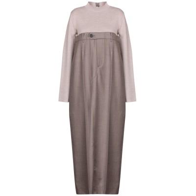 エリカ カヴァリーニ ERIKA CAVALLINI ロングワンピース&ドレス ベージュ 42 バージンウール 100% ロングワンピース&ドレス