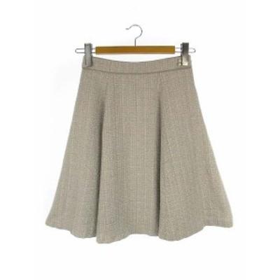 【中古】ミッシュマッシュ MISCH MASCH パール ツイード フレア スカート サイドファスナー