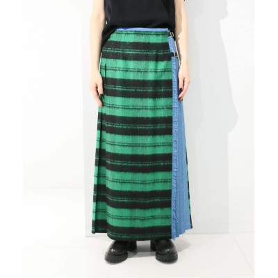 レディース シティショップ 【O'NEIL of DUBLIN for CITYSHOP 】Combination Kilt skirt:GR30-10 グリーン 10