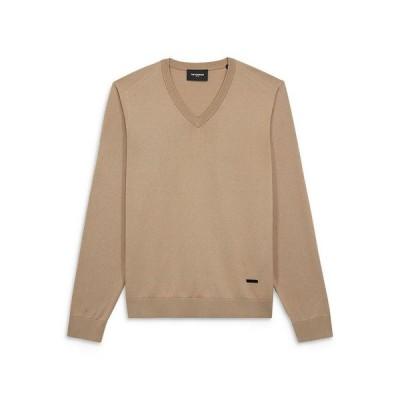 ザ・クープルス メンズ ニット・セーター アウター V Neck Leather Tag Sweater