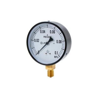 一般蒸気用圧力計 右下精器製造 G411-211-M-0.1MP