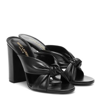 イヴ サンローラン Saint Laurent レディース サンダル・ミュール シューズ・靴 Loulou 100 leather sandals Noir