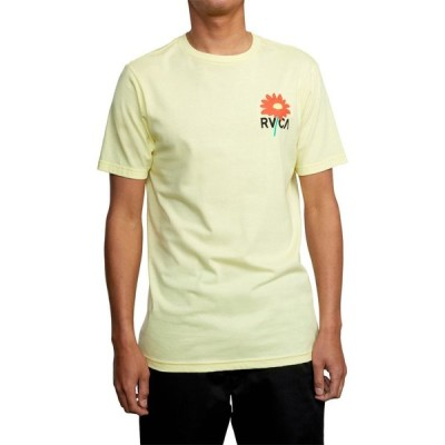 ルーカ RVCA メンズ Tシャツ トップス Breakout Short Sleeve Graphic Tee Bright Yellow