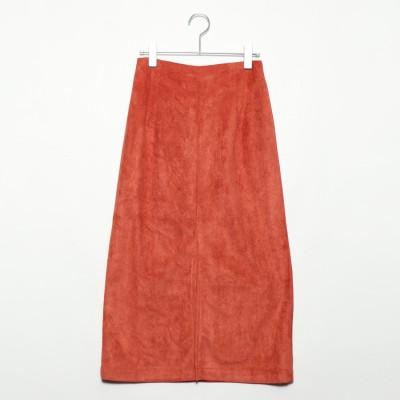 スタイルブロック STYLEBLOCK フェイクスウェードタイトスカート (テラコッタ)