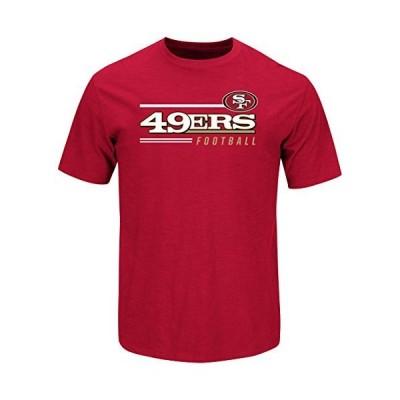 San Francisco 49ersラインのScrimmageレッドTシャツ S レッド輸入品