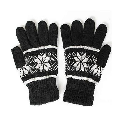1to10 people 手袋 エイトスターグローブ 雪柄 ノルディック レディース メンズ ブラック