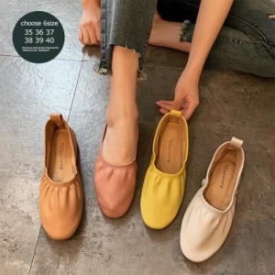 パンプス 歩きやすい レディース ローファー ラウンドトゥパンプス フラットシューズ 女性 PUパンプス 楽チン 婦人靴 可愛い シューズ