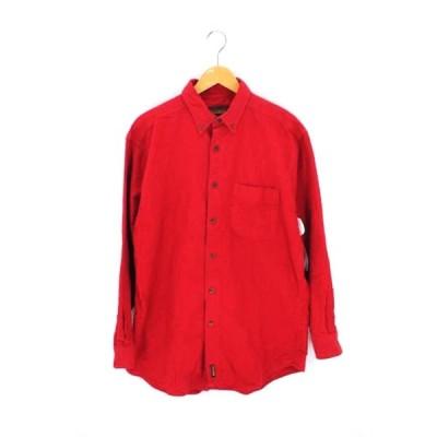 ウールリッチ WOOLRICH 90S ポケットボタンシャツ メンズ L 中古 古着 210609
