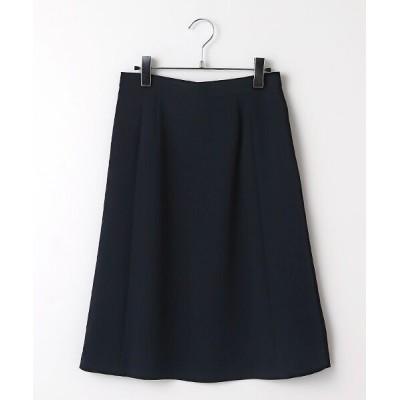 SUIT CLOSET/スーツクローゼット トリアセフレアスカート ネイビー 36