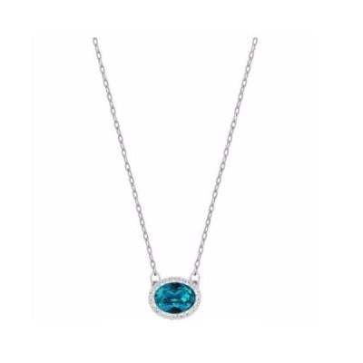ネックレス スワロフスキー Swarovski Christie Oval Necklace Blue Crystal Authentic MIB 5159175