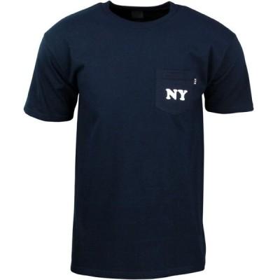 ハフ HUF メンズ Tシャツ ポケット トップス Cities Pocket Tee navy