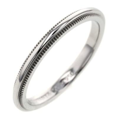 ティファニー リング 指輪 ミルグレイン 幅約2mm プラチナPT950 10号 TIFFANY&Co. 中古 K10330035