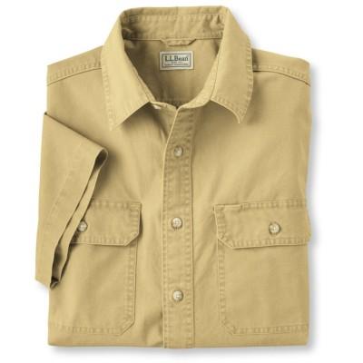 サンウォッシュ・キャンバス・シャツ、半袖